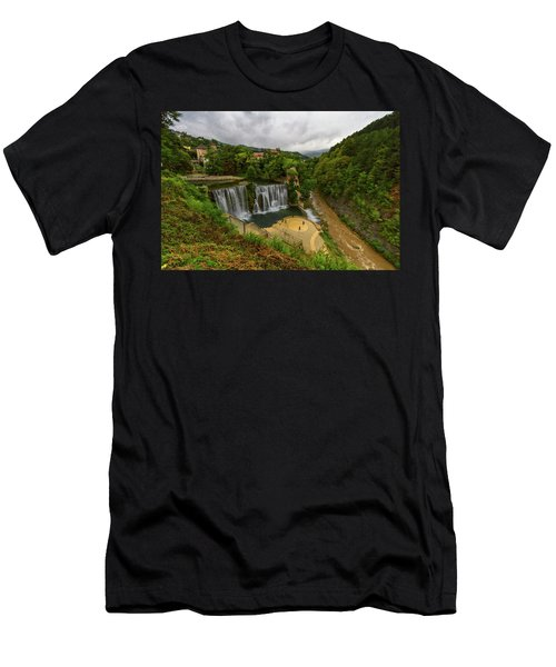 Pliva Waterfall, Jajce, Bosnia And Herzegovina Men's T-Shirt (Athletic Fit)