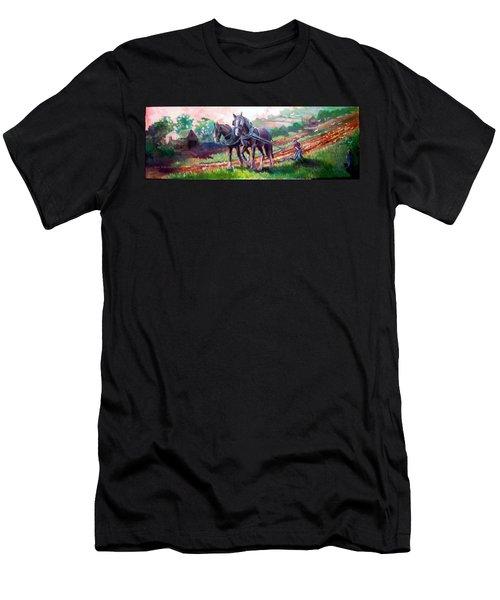 Ploughing Men's T-Shirt (Slim Fit) by Paul Weerasekera