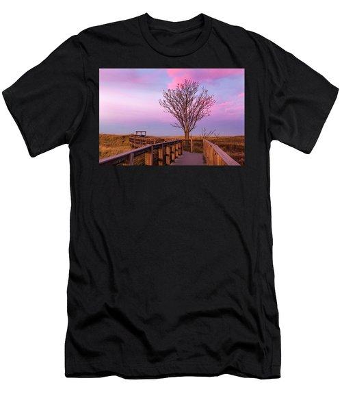 Plum Island Boardwalk With Tree Men's T-Shirt (Athletic Fit)