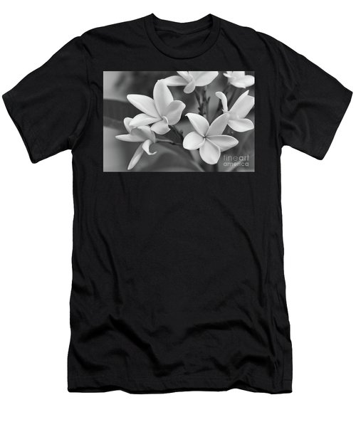 Plumeria Flowers Men's T-Shirt (Slim Fit) by Olga Hamilton