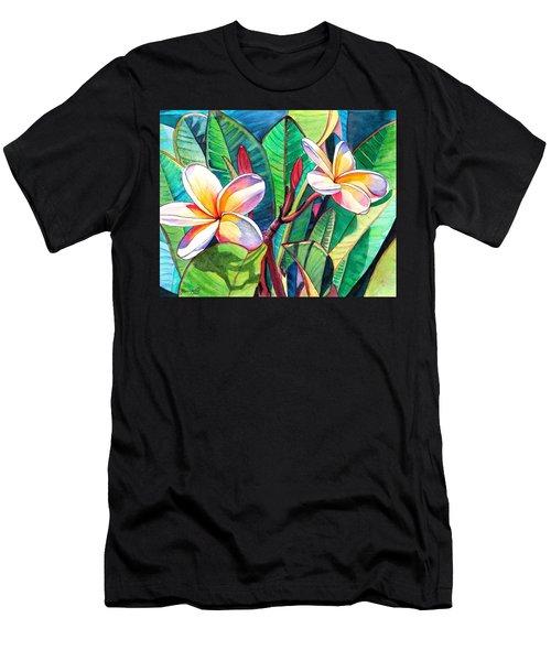 Plumeria Garden Men's T-Shirt (Athletic Fit)
