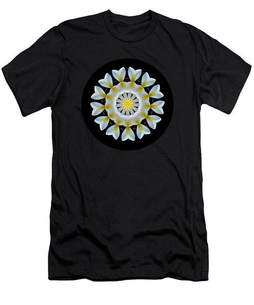 Plumeria Mandala By Kaye Menner Men's T-Shirt (Athletic Fit)