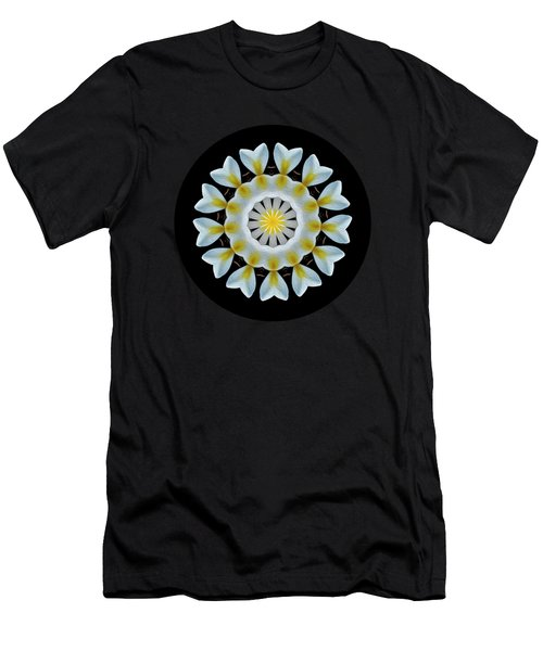 Plumeria Mandala By Kaye Menner Men's T-Shirt (Athletic Fit)