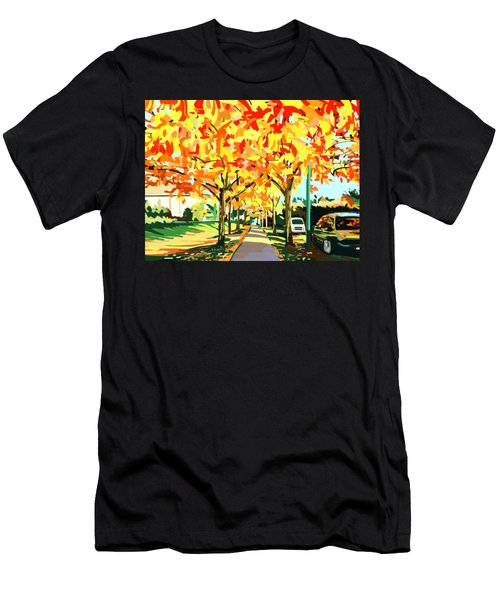 Plumes Of Leaves Men's T-Shirt (Athletic Fit)