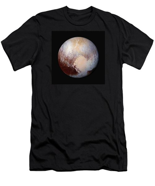 Pluto Dazzles In False Color - Square Crop Men's T-Shirt (Athletic Fit)