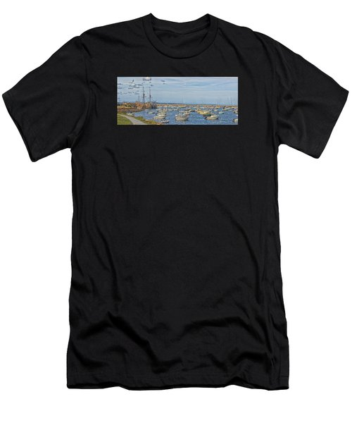 Plymouth Harbor In September Men's T-Shirt (Athletic Fit)