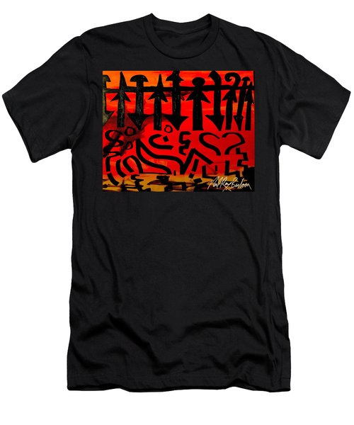 Pmurt Abstract  Men's T-Shirt (Athletic Fit)