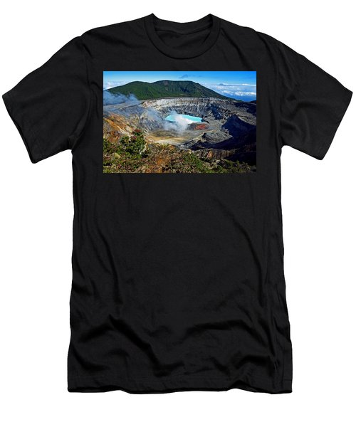 Poas Volcano Men's T-Shirt (Athletic Fit)