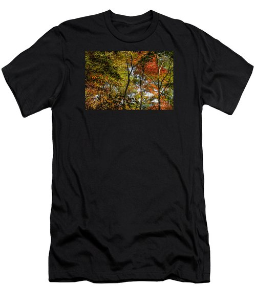 Men's T-Shirt (Slim Fit) featuring the photograph Pockets Of Color Emerging by Barbara Bowen