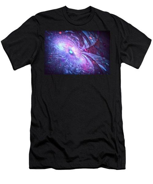 Men's T-Shirt (Athletic Fit) featuring the digital art Poem by Michal Dunaj