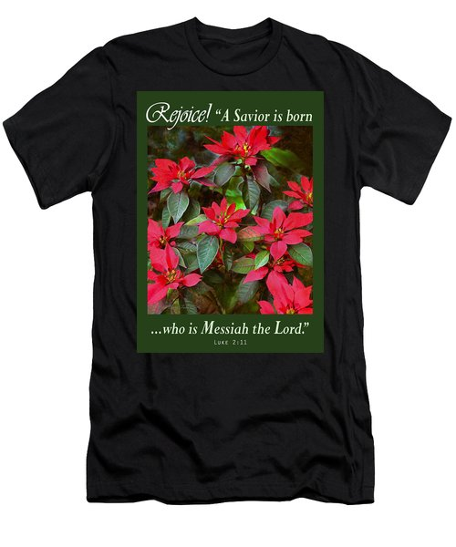 Poinsettia Christmas Men's T-Shirt (Athletic Fit)