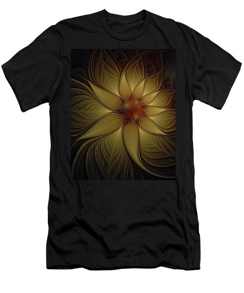 Poinsettia In Gold Men's T-Shirt (Athletic Fit)