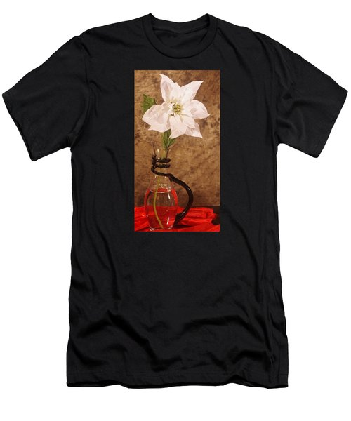Poinsettia In Pitcher  Men's T-Shirt (Athletic Fit)