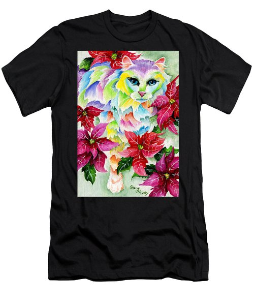 Poinsettia Sweetheart Men's T-Shirt (Athletic Fit)
