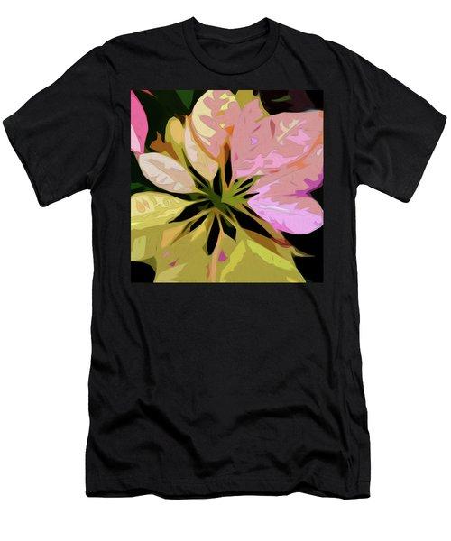 Poinsettia Tile Men's T-Shirt (Athletic Fit)