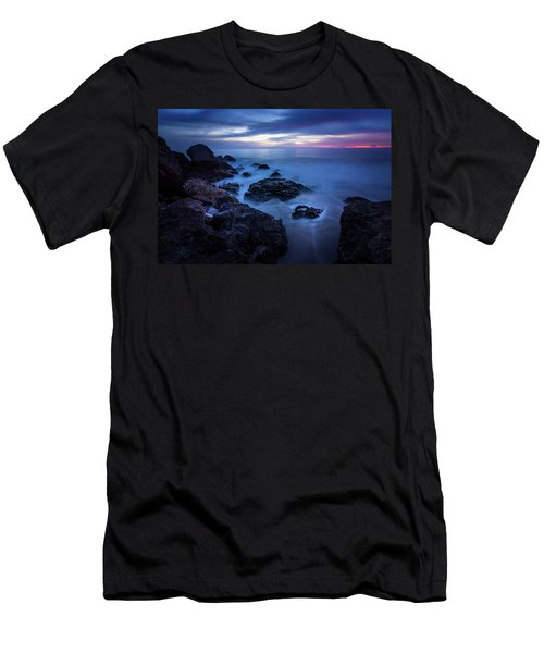 Point Dume Rock Formations Men's T-Shirt (Athletic Fit)