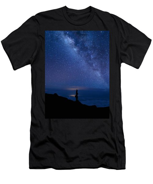 Pointing To The Heavens Men's T-Shirt (Athletic Fit)