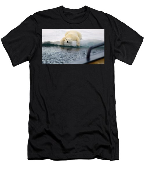 Polar Bear Says 'huh' Men's T-Shirt (Athletic Fit)