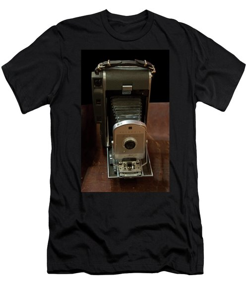 Men's T-Shirt (Athletic Fit) featuring the photograph Polaroid Land Camera Model 160 by Chris Flees