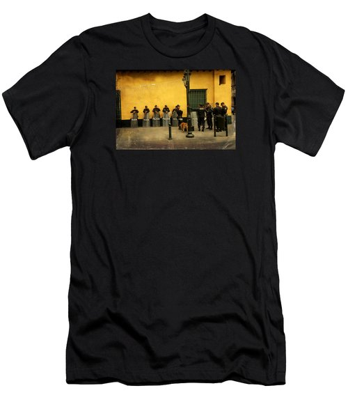 Policia In Lima Peru Men's T-Shirt (Athletic Fit)