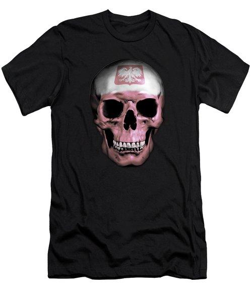 Men's T-Shirt (Slim Fit) featuring the digital art Polish Skull by Nicklas Gustafsson