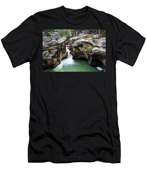 Men's T-Shirt (Athletic Fit) featuring the photograph Polished Rock by David Chandler