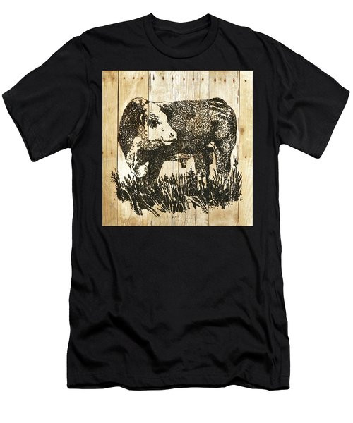 Polled Hereford Bull 11 Men's T-Shirt (Athletic Fit)