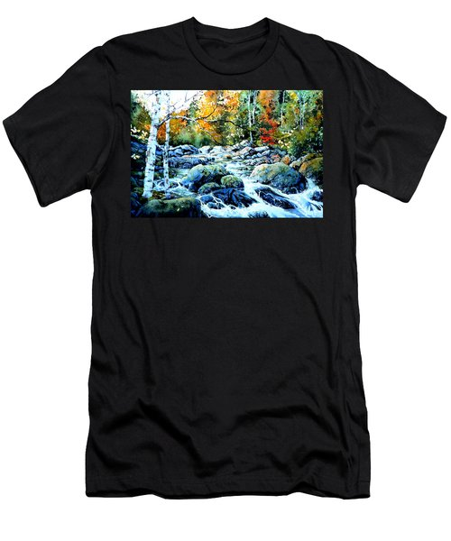 Men's T-Shirt (Athletic Fit) featuring the painting Polliwog Clearing by Hanne Lore Koehler