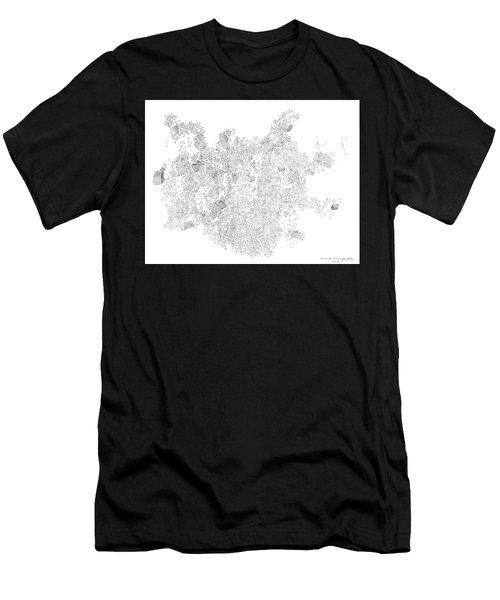Polymer Crystallization With Modifiers Men's T-Shirt (Athletic Fit)