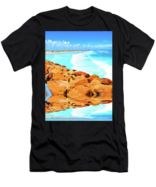 Ponce Inlet Jetty  Men's T-Shirt (Athletic Fit)