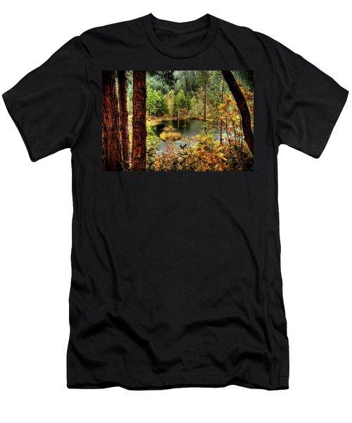 Pond At Golden Or. Men's T-Shirt (Athletic Fit)