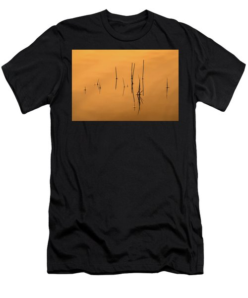 Pond Reeds In Reflected Sunrise Men's T-Shirt (Athletic Fit)