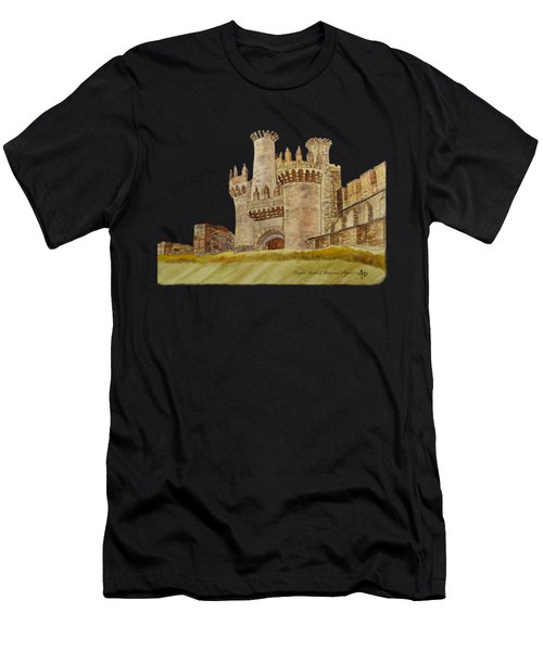 Ponferrada Templar Castle  Men's T-Shirt (Athletic Fit)