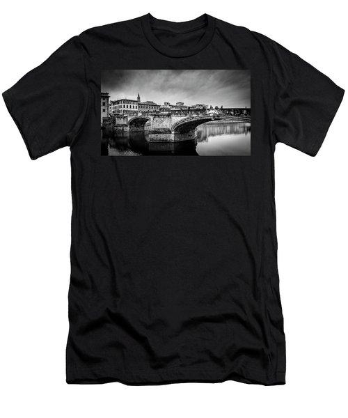 Men's T-Shirt (Slim Fit) featuring the photograph Ponte Santa Trinita by Sonny Marcyan