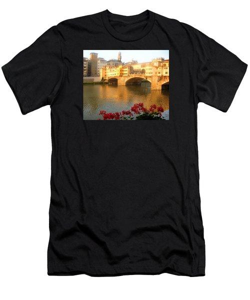 Ponte Vecchio In Florence Men's T-Shirt (Athletic Fit)