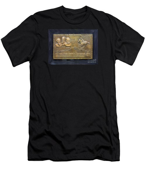 Pony Express Brass Plaque Men's T-Shirt (Athletic Fit)