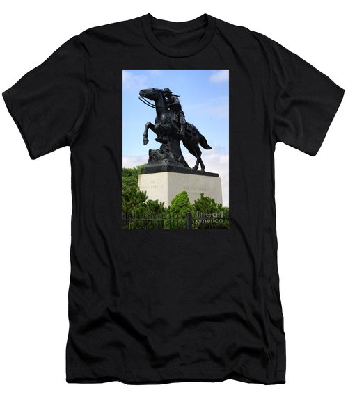 Pony Express Rider Men's T-Shirt (Slim Fit) by Linda Phelps