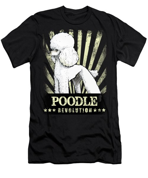 Poodle Revolution Men's T-Shirt (Athletic Fit)