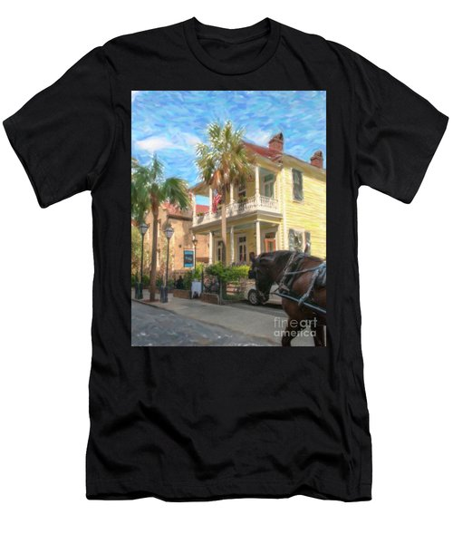 Poogans Porch In Charleston Sc Men's T-Shirt (Athletic Fit)