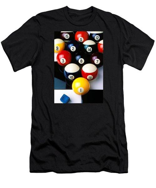 Pool Balls On Tiles Men's T-Shirt (Athletic Fit)