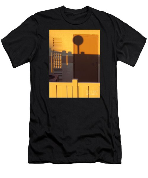 Pool House Shadow At Sunrise. Men's T-Shirt (Athletic Fit)