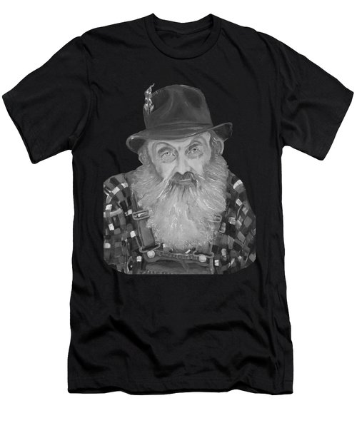 Popcorn Sutton Moonshiner Bust - T-shirt Transparent B And  W Men's T-Shirt (Athletic Fit)