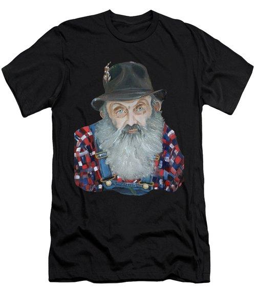 Popcorn Sutton Moonshiner Bust - T-shirt Transparent Men's T-Shirt (Athletic Fit)