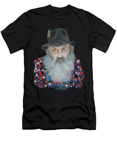 Popcorn Sutton Moonshiner Bust - T-shirt Transparent Men's T-Shirt (Athletic Fit)