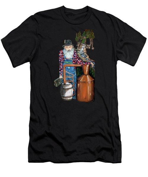 Popcorn Sutton Moonshiner -t-shirt Transparrent Men's T-Shirt (Athletic Fit)