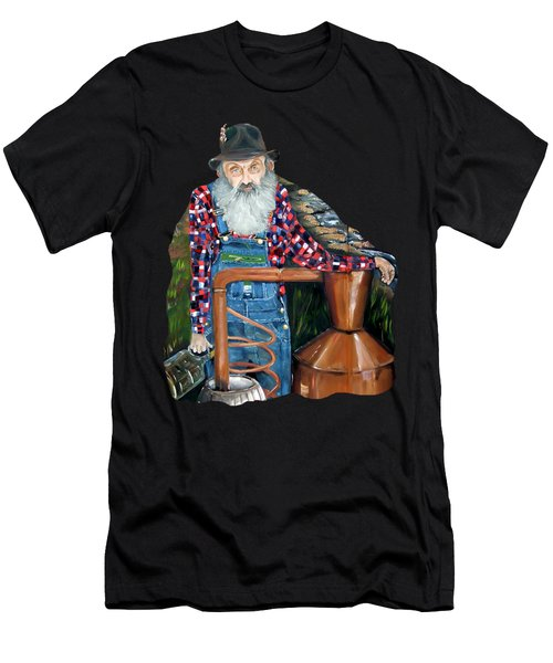 Popcorn Sutton Moonshiner - Tshirt Transparent Torso Men's T-Shirt (Athletic Fit)