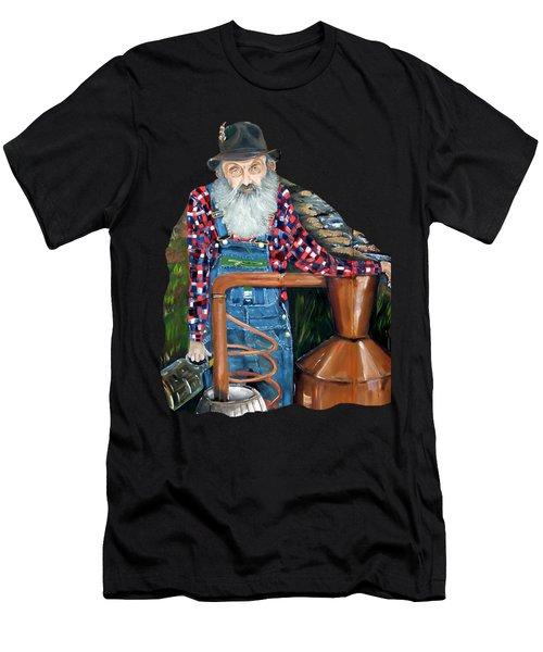Popcorn Sutton Moonshiner - Tshirt Transparent Torso Men's T-Shirt (Athletic Fit)