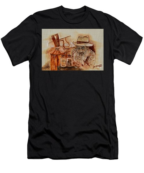 Popcorn Sutton - Waiting On Shine Men's T-Shirt (Athletic Fit)