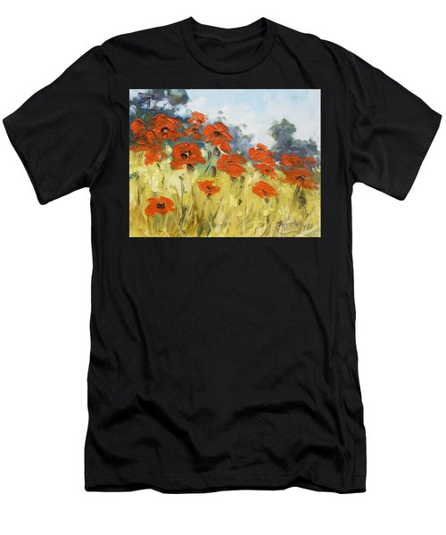 Poppies 3 Men's T-Shirt (Athletic Fit)