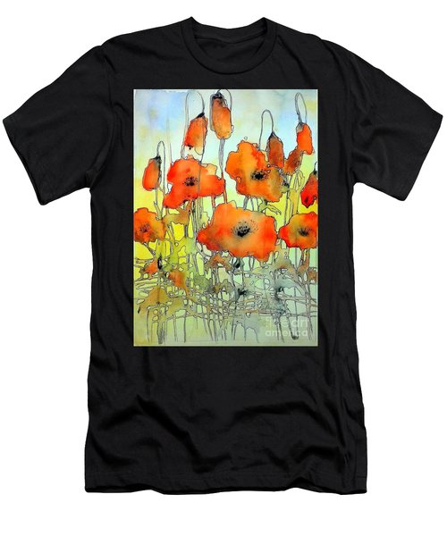 Poppies Abstraction Men's T-Shirt (Athletic Fit)